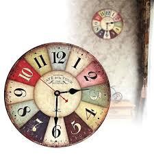 shabby chic clocks vintage wooden wall clock shabby chic rustic retro kitchen home antique decor decor