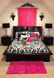Pink And Black Girls Room Ideas Bedroom Decor Ideas Black And