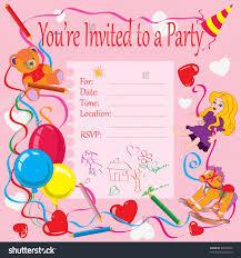 Birthday Party Invitation Card Template Free Birthday Party Invitation Card Rome Fontanacountryinn Com