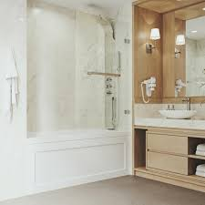 bathtub door with 3125 in clear glass and stainless steel hardware