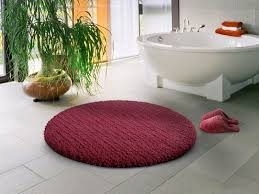 Small Round Bathroom Rugs Home Designs Kaajmaaja