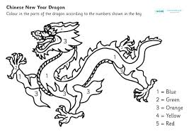 Chinese Coloring Pages Happy New Year Coloring Page Chinese Dragon