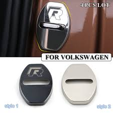 Car Styling Stainless Steel Car Covers Door Lock Cover Case For Vw
