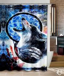 Purchase Dream Catchers Cheap Dream catcher wolf nebula Art Shower Curtain Cheap 54