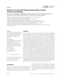 pdf review oxytocin crossing the bridge between basic science and pharmacotherapy