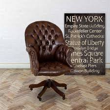 brown leather office chair. chesterfield directors leather office chair brown