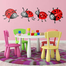kids wall sticker ladybug kit