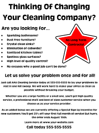 House Cleaning Flyer Template New Your Cleaning Business Flyers Need To Be On Target In 44
