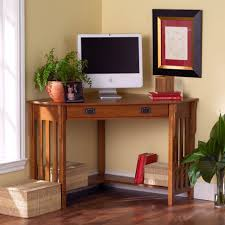 Office:Small Home Office Design With Cool Wooden Corner Computer Desks  Creative Small Space Saving