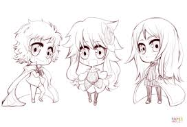 Small Picture Anime Chibi Characters by Gabriela Gogonea coloring page Free