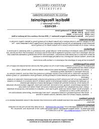 Receptionist Resume Examples Specialist Medical Office Receptionist Resume Sample Student 75