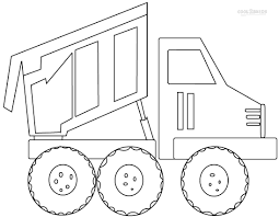 printable garbage truck coloring pages