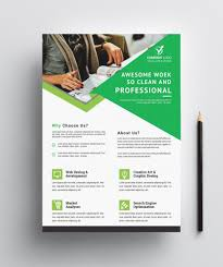 Business Flyer Template Professional Free Flyers Stock