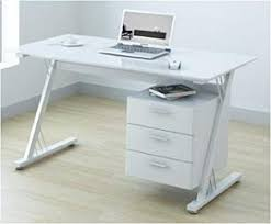 white gloss office desk. U-Office Glass And Gloss White Computer Office Desk Workstation G