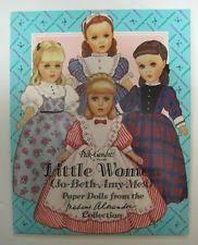 vtg 1993 little women paper dolls uncut kit book peck gandre madame alexander