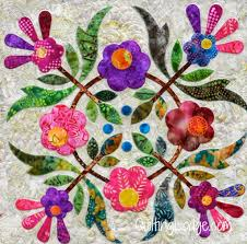 Spring Bouquet Quilt, guild member, quilted by Orchid Owl Quilts ... & Spring Bouquet Quilt, guild member, quilted by Orchid Owl Quilts. Pattern  by Edyta Adamdwight.com