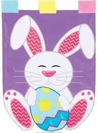 floppy bunny double applique garden flag