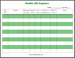 Monthly Bill Template Free Monthly Bill Template Free Elegant Great