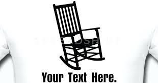 rocking chair silhouette. Wonderful Silhouette Rocking Chair Vector Silhouette To Rocking Chair Silhouette N