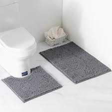 vdomus microfiber bathroom rugs combo 2 pieces rug set