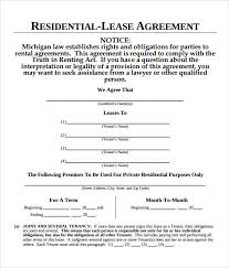 7+ Sample Blank Lease Agreements | Sample Templates