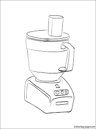 Small Picture Food processor coloring page Coloring pages