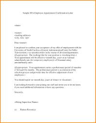 Format For Confirmation Letter For Employee Images Letter