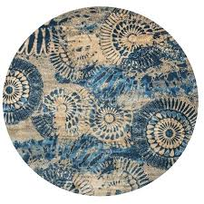 round area rugs home collection blue tan medallion round area rug x x on free