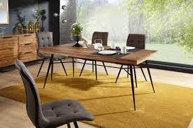 Awesome FineBuy Esstisch Sheesham Massiv Esszimmertisch Holztisch Tisch Esszimmer  Metall