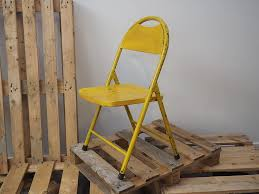 Get 5% in rewards with club o! Rustic House Vintage Reclaimed Industrial Metal Folding Chairs Six Colours Yellow Amazon Co Uk Kitchen Home