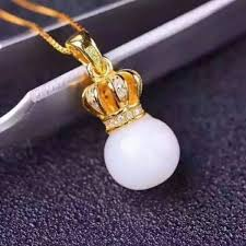 senarai harga shilovem 925 silver natural white jade pendants crown send necklace classic whole fine women gift tf080801aghby terkini di malaysia