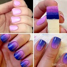 ombre nail art cool nail design for short nails