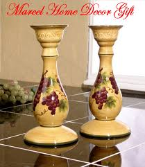 Grape Kitchen Decor Accessories Grape Kitchen Items Candle Holders Set Grape Tuscany Wine 87