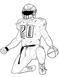 Football Player Bending The Foot Coloring Page Kids Coloring Pages