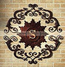seemly exterior wall art metal outdoor wall decor metal personalized embossed letter monogram metal wall art  on garden wall art metal adelaide with seemly exterior wall art metal home decor wrought iron wall decor