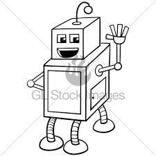 cubical robot character coloring book