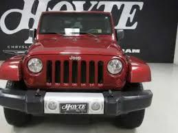 2010 jeep wrangler 4x4 2 door suv sahara maroon used suv valley view tx
