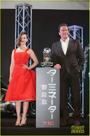 Emilia Clarke Looks Red Hot at 'Terminator Genisys' Japan Premiere ...