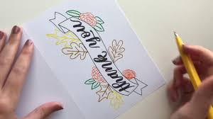Thank You Cards Design Your Own Make Your Own Fall Floral Banner Thank You Card Youtube
