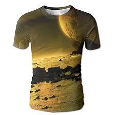 Planet Gold Size Chart Yoigng Hawaiian 3d Printed Space And Planet T Shirt Short