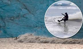 New zealand and australia have issued tsunami warnings after a 7.7 magnitude earthquake struck the pacific ocean on wednesday. Surfer Garrett Mcnamara Cheats Death To Become The First Person To Ride Tsunami Wave Daily Mail Online