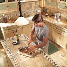 Kitchen tiles countertops Granite Kitchen The Family Handyman Installing Tile Countertops Ceramic Tile Kitchen Countertops The
