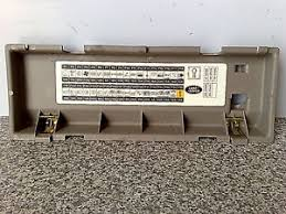1997 2005 land rover lander fusebox lid fuse box cover image is loading 1997 2005 land rover lander fusebox lid fuse
