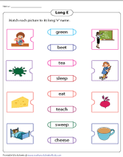 There are long vowel vs. Long E Worksheets