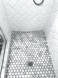 grey shower tiles. White Shower Floor Tile Small Hexagon And Grey Ideas Mosaic Tiles