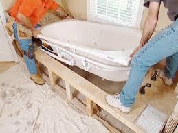 installing a new bathtub. Carefully Lift Tub Out Of Frame Installing A New Bathtub T