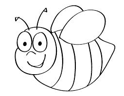 Bee-Coloring-Pages-Kindergarten.png (1134×881) | bee-bee ...