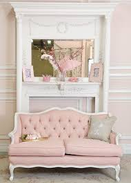 pink shabby chic furniture. shabby cottage chic pink linen tufted french style loveseat couch sofa furniture
