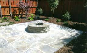 Brentleys Landscape Construction Flagstone Patio with Fire Pit