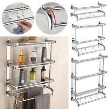 wall mounted chrome towel rail bar